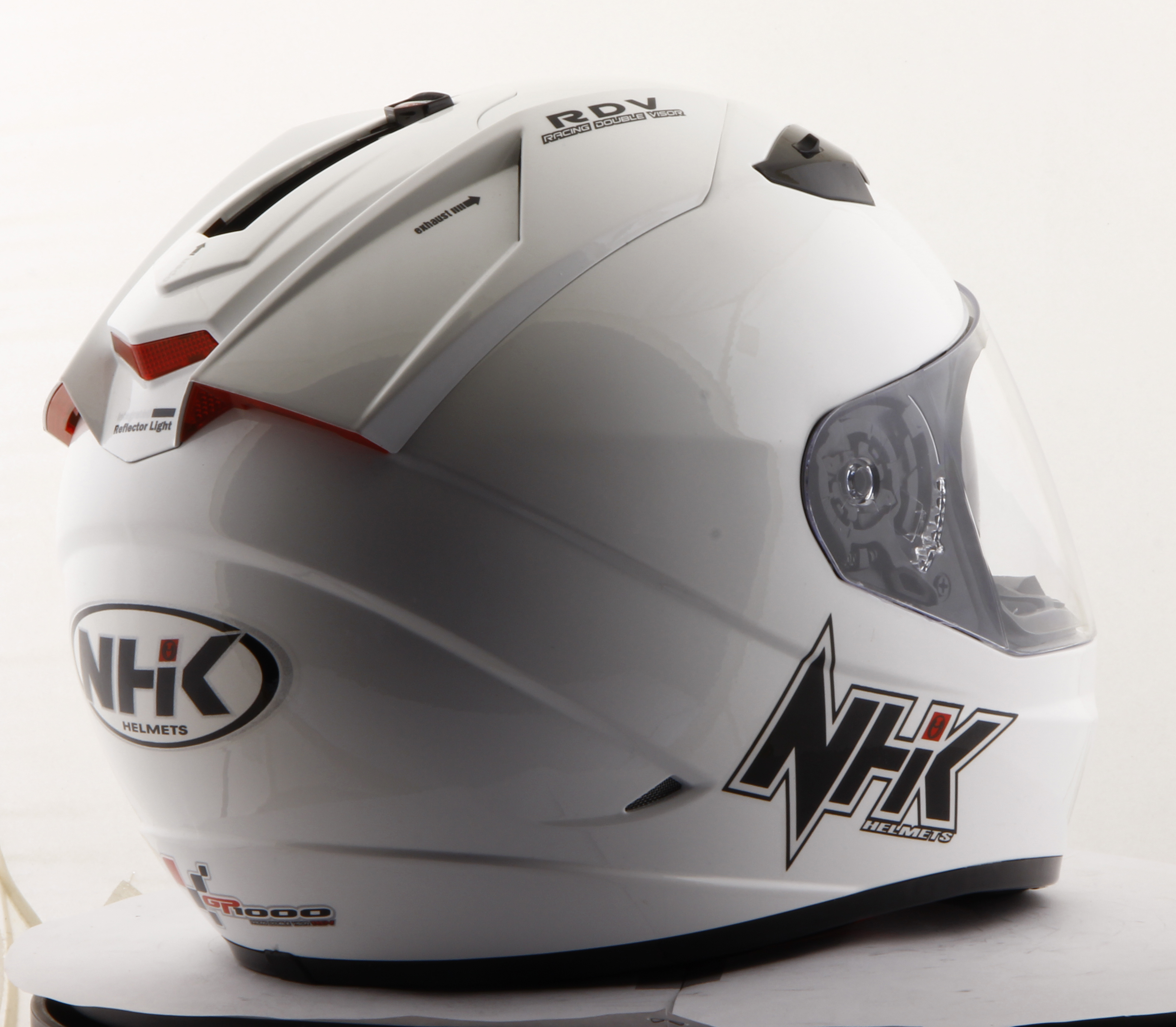 Helm Nhk Gp1000 Solid Black Full Face Xvision Yellow
