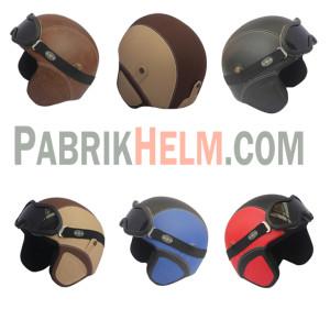 Helm Retro Kulit