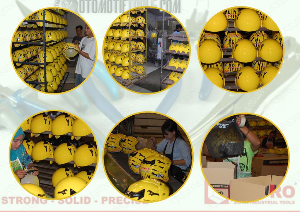 Proses pembuatan helm Custom