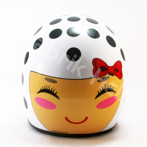 Helm Retro JPN Kaca Bogo Motif