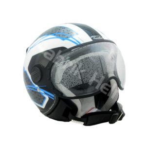 Helm Zeus ZS-210K Putih/Biru
