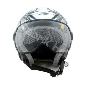 Helm Zeus ZS-210K Putih/Hitam