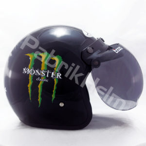 Helm JPN Retro Monster Classic Kaca Bogo