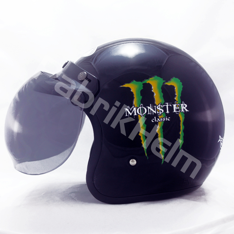 Helm JPN Retro Monster Classic Kaca Bogo