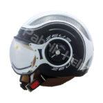 Helm Zeus ZS-218 Putih/Hitam