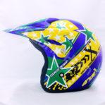 Helm JPN Cross PC18 Motif Star Biru