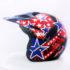 Helm JPN Cross PC18 Motif Star Hitam