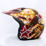 Helm JPN Cross PC18 Motif Star Coklat