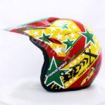 Helm JPN Cross PC18 Motif Star Merah