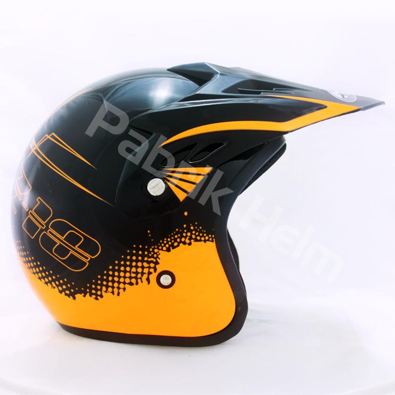 Helm JPN Cross PC18 Motif Z18 Hitam