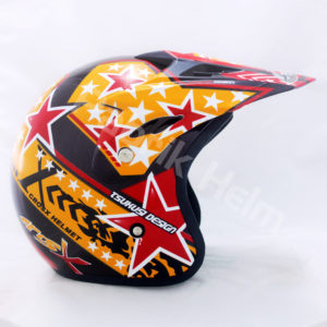 Helm JPN Cross PC18 Motif Star Gunmetal