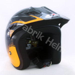 Helm JPN Cross PC18 Motif Z18 Hitam