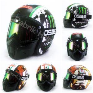 Helm Retro Kulit Custom Klasik Lisensi SNI Bisa Satuan