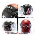 Helm Retro Kulit Custom